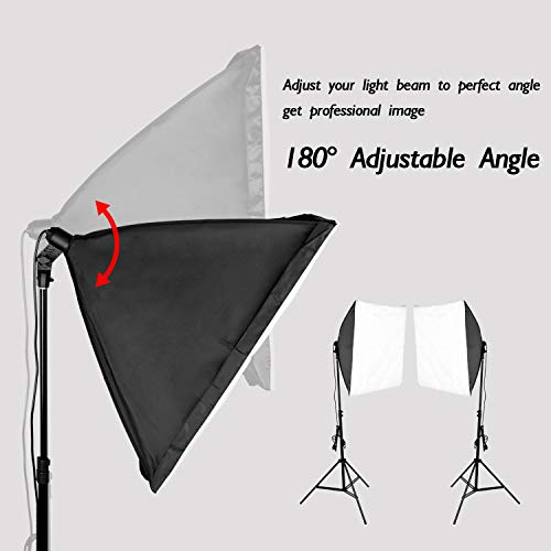 Emart 8.5 x 10 ft Backdrop Support System, Photography Video Studio Lighting Kit Umbrella Softbox Set Continuous Lighting for Photo Studio Product, Portrait and Video Shooting Photography by EMART (Image #2)