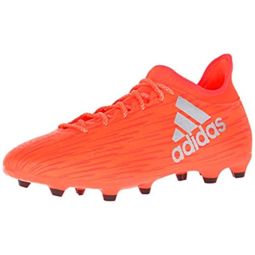 adidas Performance Mens x 163 Fg Soccer Shoe Solar Red Metallic Silver Hi Res Red F 95 M US