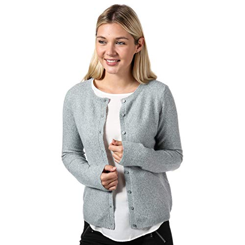 VERO MODA Women's Doffy Short Cardigan Melange 2 Grey