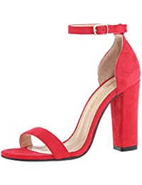 Amazon.com: Red - Heeled Sandals / Sandals: Clothing, Shoes & Jewelry