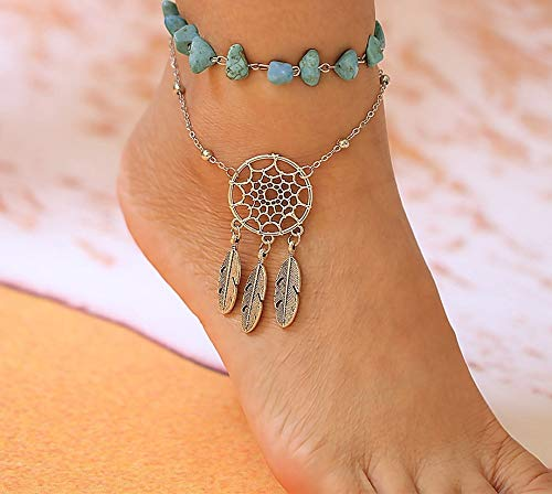 Anklets Braided Cord Anklet With Natural Small Hag Stones Womens Ankle Bracelet Body Jewelry Anklets It can even be made as a belt for around your waist for real grounding protection. frame vr