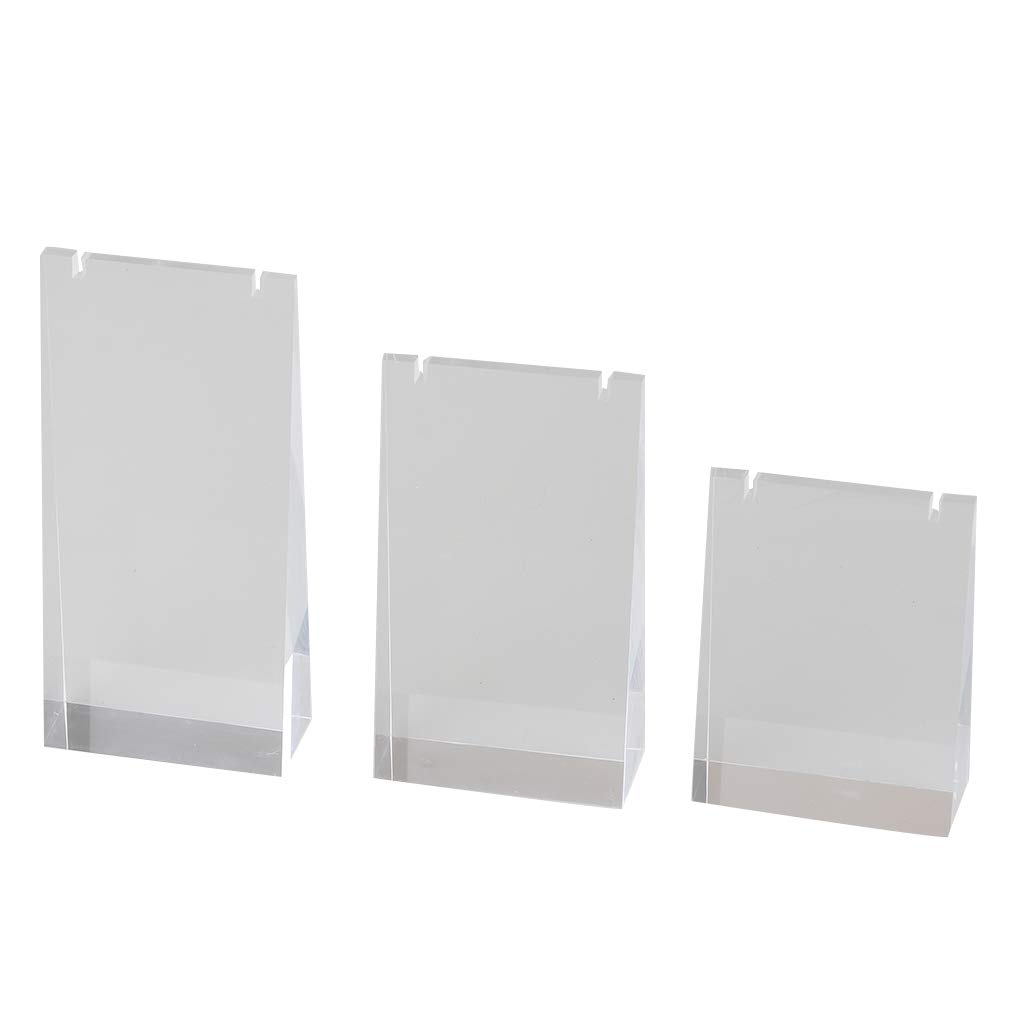 Pack of 10 Shopfitting Warehouse Clear Acrylic Earring Display Stand 2 Holes H60 x W35 mm