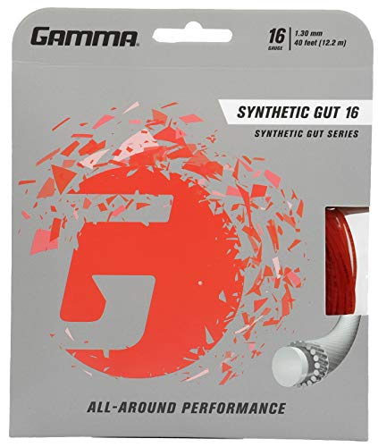 Gamma Synthetic Gut 16G Tennis String, Red