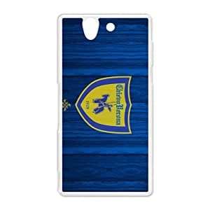 Gialloblu (Yellow-Blues)Associazione Calcio A.C Chievo Verona Sony Xperia Z Hard Plastic White Shell Case Cover (HD image)