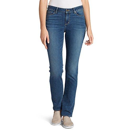 Eddie Bauer Women's StayShape Straight Leg Jeans - Curvy, Ocean 18W