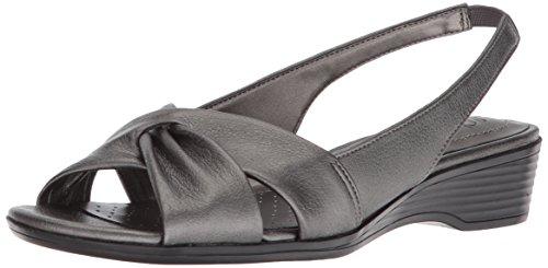 LifeStride Women's Mimosa 2 Sandal, Pewter, 8.5 M US