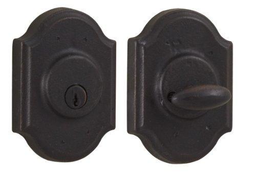 Weslock 07571-1-1SL23 Premiere Single Cylinder Deadbolt, Oil-Rubbed Bronze by Weslock (Bronze Weslock Rubbed Oil)
