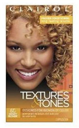 Clairol Textures & Tones 6G Honey Blonde, 1 ea (Pack of 12)