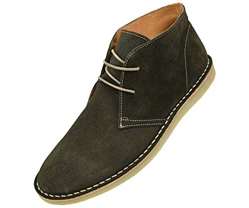 Asher Green Genuine Leather Suede Lace Up Low Top Boot Style AG6202