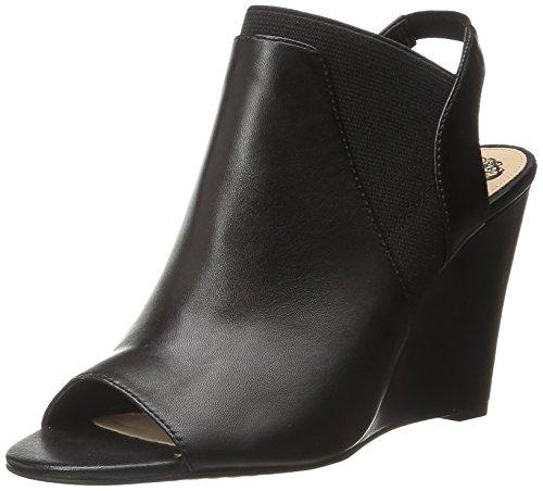 Vince Camuto Frauen Xadrian Peep Toe Leger Leder Sandalen mit Keilabsatz Schwarz Groesse 9 US/40 EU