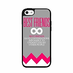 Pink Bestfriends Quote Plastic Phone Case Back Cover iPhone 4 4s