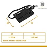 OneTigris Tactical ID Card Holder Hook & Loop Patch Badge Holder Neck Lanyard Key Ring and Credit Card Organizer