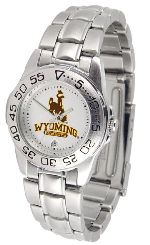"Wyoming Cowboys NCAA ""Sport"" Ladies Watch (Metal Band)"