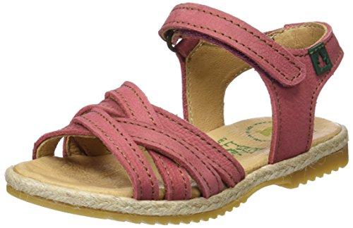 El Naturalista Kids Mädchen E120 Peeptoe Sandalen Pink (Sandalo)