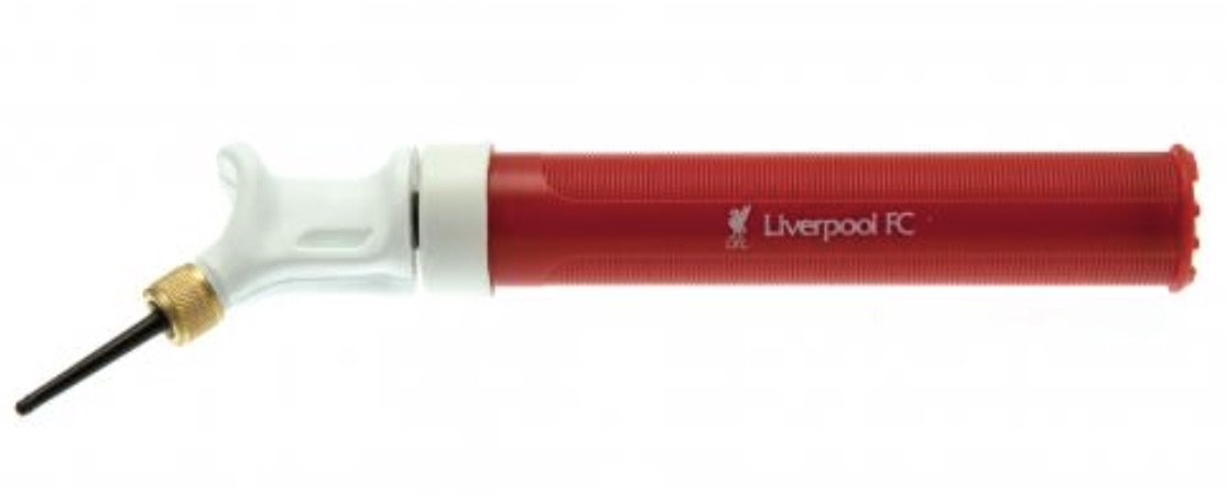 LIVERPOOL FC DUAL ACTION HAND PUMP - GREAT PUMP TO KEEP IN YOUR SOCCER BAG - INFLATES BALLS - NEEDLE IS INCLUDED - DON'T BE DISAPPOINTED WHEN YOU RECEIVE A NEW SOCCER BALL - BUY YOUR SOCCER PUMP TODAY
