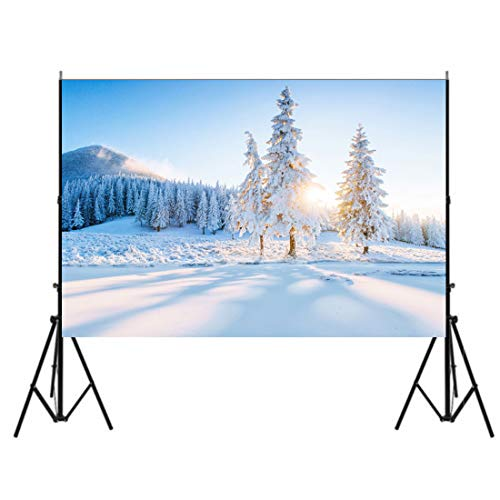 7x5ft Christmas Winter Snowscape Mountains Photography Backdrop White Snow Covered Pine Trees Forest Photography Background Winter Snowfield Scenery Girls Adult Kid Portrait Photo Studio Props