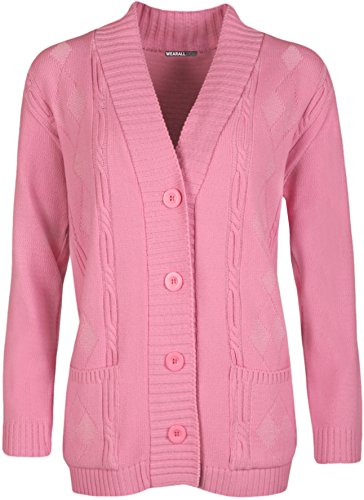 Pocket Haut Taille Grande longues manches Cardigan Ladies en Tailles Grande 42 maille Bouton WearAll Cardigans Femmes 5WYXwqRq