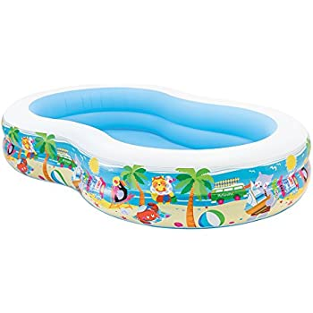 Amazon.com: Piscina inflable familiar Intex, 103 x 69 x 22 ...