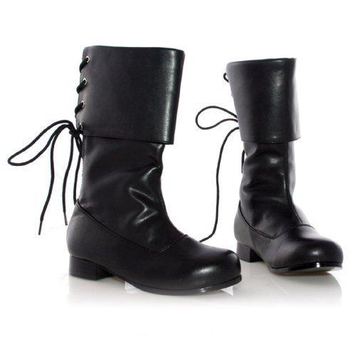 Ellie Shoes PL3409BK-M Black Buccaneer Boot Child Size Mediu