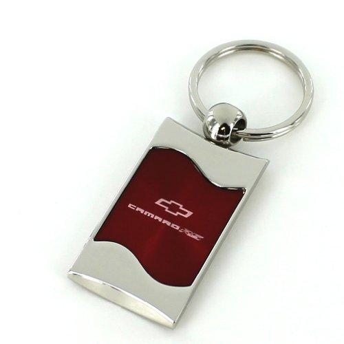 Chevrolet Camaro RS Red Spun Brushed Metal Key Chain