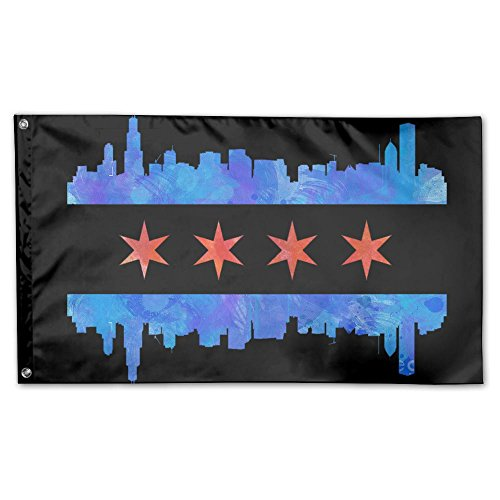 Chicago City Flag Garden Flag 3x5 FT For Indoor Or Outdoor H