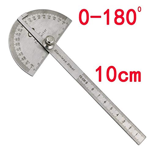Rcool-Multifunctional-Stainless-Steel-180-Degree-Angle-10cm-Measurement-Protractor-Ruler-DIY-Measuring-Folding-Ruler-Angle-Engineer-Protractor-Gauge-Painting-Drawing-Measuring-Instrument-Ruler-Tool