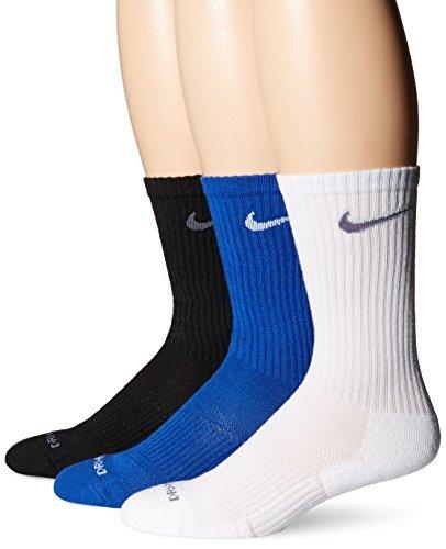 Nike Hombres de Dri-FIT Calcetines de Acolchado, Large 8 – 12 (Pack