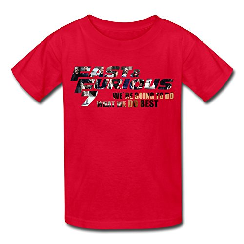Kids Boys Girls T Shirt Fast & Furious 7 What We Do Best Red Size S