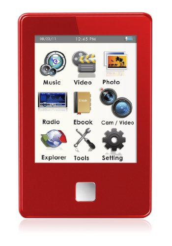 MP4 Player, Ematic E8 Series 4GB Red MP4 Player