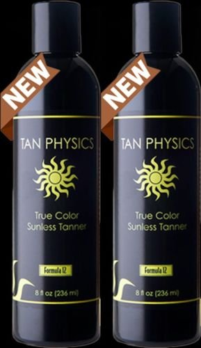 Tan Physics True Color (2 pack) w/ 5 FREE pairs of application gloves, Sunless Tanner by Tan Physics (Image #1)