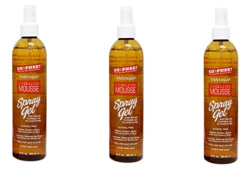 [ VALUE PACK OF 3] FANTASIA IC LIQUID MOUSSE SPAY ON GEL 12oz FAST DRYING