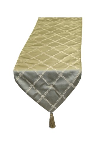 Violet Linen Diamond Damask Table Runner, 13