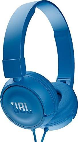 JBL T450 Extra Bass On-Ear Headphones with Mic (Blue) On-Ear Headphones at amazon