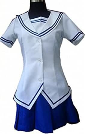 Japanese Anime Fruits Basket Summer Uniform Dress Costume (L-Woman)
