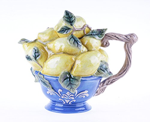 Blue Sky Ceramic Lemon Teapot, 10 x 65 x (Ceramic Lemon)