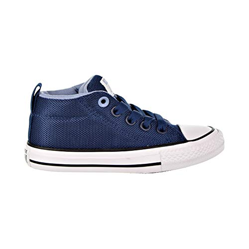Converse Boys Kids' Chuck Taylor All Star Street Mesh Mid Top Sneaker, Navy/Indigo Fog/White, 12 M US -