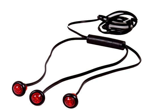 """Maxxima M09300R-3 Red LED 3/4"""" Three Unit Harness Combination Clearance Marker Light"""