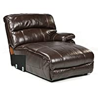 Signature Design by Ashley U9820097 Damacio Collection Right-Arm Facing Power Chaise, Dark Brown