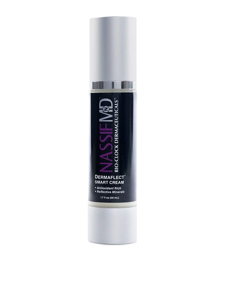 NassifMD Dermaflect Smart Day Cream - Antioxidant & Hydrating Cream with Vitamin C & E, Protect Against UV Damage