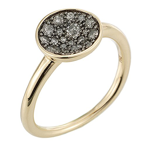 Diamond Concave Ring in 14K Yellow Gold (Ring Cut Concave Diamond)
