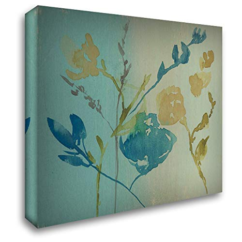 Spa and Sage Bouquet II 28x28 Gallery Wrapped Stretched Canvas Art by Goldberger, Jennifer