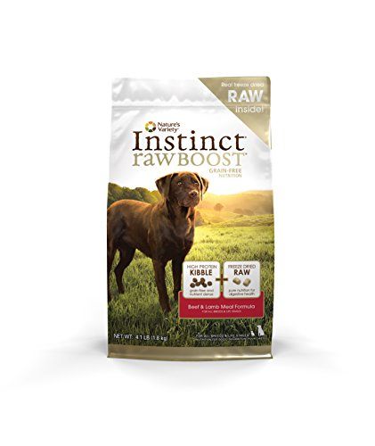 Nature's Variety Instinct Raw Boost Grain Free Beef & Lamb Meal Formula Dry Dog Food, 4.1 lb. Bag