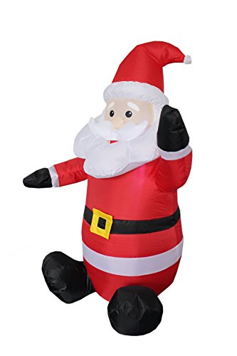 4-foot Christmas Inflatable Santa Claus Blow-Up Yard ...