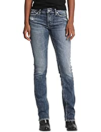 Women's Elyse Relaxed Fit Mid Rise Slim Bootcut Jeans