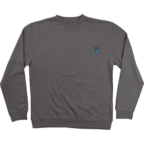 Mens Gunmetal Sweater (Santa Cruz Men's Screaming Mini Hand Crew Neck Sweater,Medium,Gunmetal Heather)