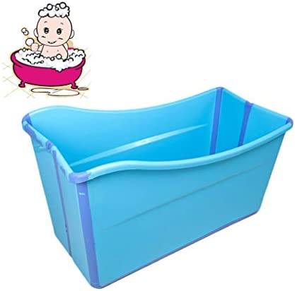 折りたたみバスタブ GYF 子供用プール全身シャワーポットバスタブ新生児用浴槽 ベビータブ 折りたたみ式バスタブ 子供用バスタブ 環境を守ること 滑り止め 強い耐荷重 98x42x57cm (Color : Blue)