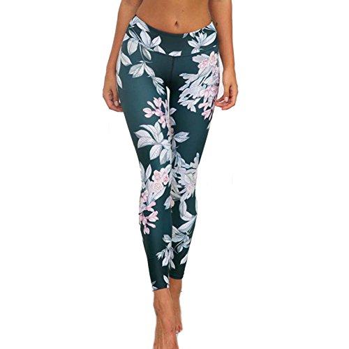 Fashion Floral Print Yoga Leggings Slim Fitness Yoga Pants Dancing Running Sports Activewear Loungewear