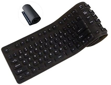 a3f200f302d Image Unavailable. Image not available for. Color: ProHT Foldable USB Wired  Keyboard (70140), 109 Keys Silicone Soft Waterproof ...