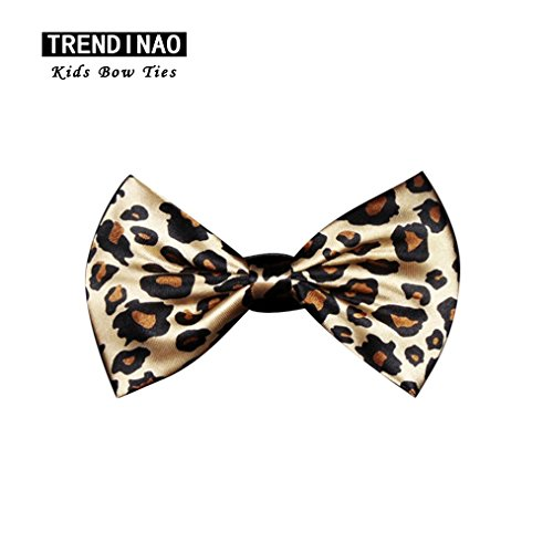 TRENDINAO Fashion Baby Kids Toddler Boys Bow Ties Adjustable Multicolor Bowties for (03 Peach Satin)