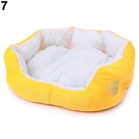 MFEIR Cama Gato Nido para Mascotas Cama de Perro Cálido Nido Algodón,Amarillo Grande